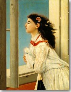 Άβλιχος Γεώργιος-Κοπέλα στο Παράθυρο, 1877